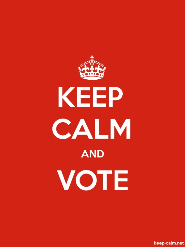 KEEP CALM AND VOTE - white/red - Default (600x800)