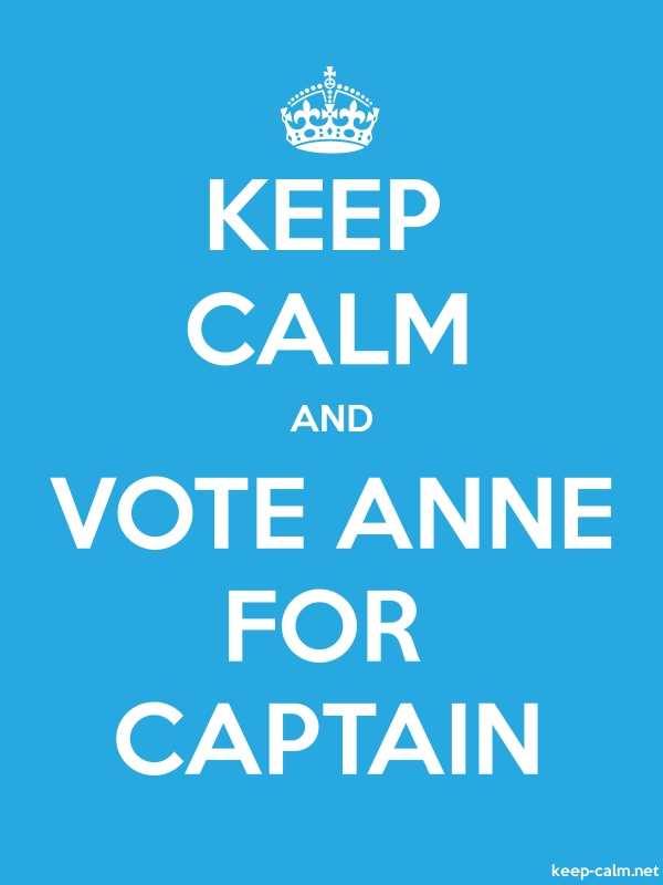 KEEP CALM AND VOTE ANNE FOR CAPTAIN - white/blue - Default (600x800)