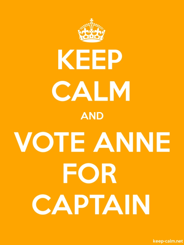 KEEP CALM AND VOTE ANNE FOR CAPTAIN - white/orange - Default (600x800)