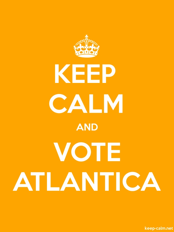KEEP CALM AND VOTE ATLANTICA - white/orange - Default (600x800)