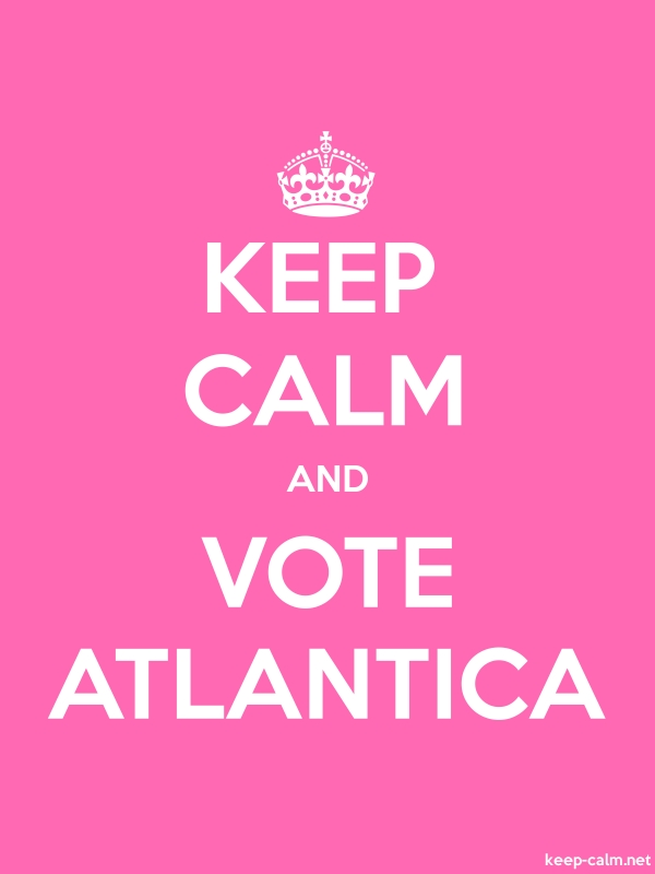 KEEP CALM AND VOTE ATLANTICA - white/pink - Default (600x800)