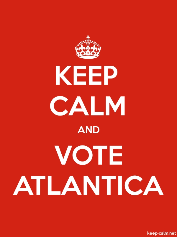 KEEP CALM AND VOTE ATLANTICA - white/red - Default (600x800)