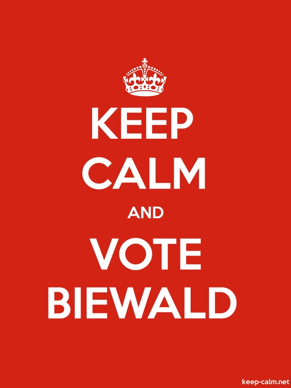 KEEP CALM AND VOTE BIEWALD - white/red - Default (600x800)