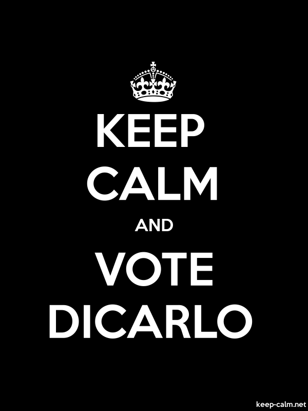 KEEP CALM AND VOTE DICARLO - white/black - Default (600x800)