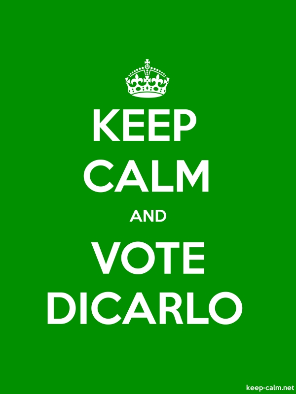KEEP CALM AND VOTE DICARLO - white/green - Default (600x800)