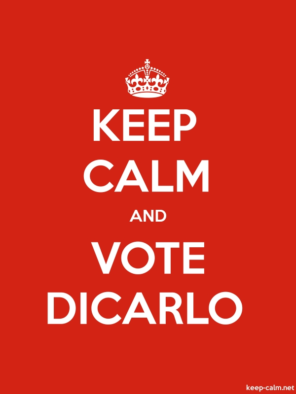 KEEP CALM AND VOTE DICARLO - white/red - Default (600x800)