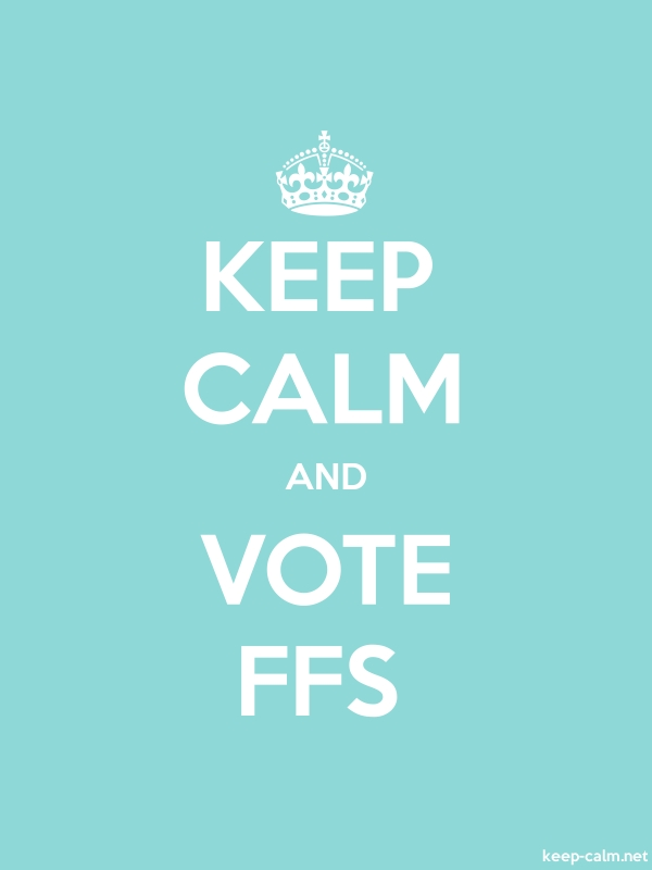 KEEP CALM AND VOTE FFS - white/lightblue - Default (600x800)