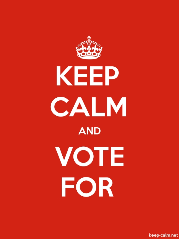 KEEP CALM AND VOTE FOR - white/red - Default (600x800)