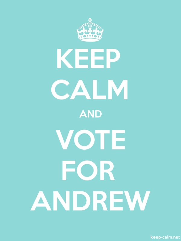 KEEP CALM AND VOTE FOR ANDREW - white/lightblue - Default (600x800)