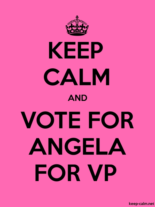 KEEP CALM AND VOTE FOR ANGELA FOR VP - black/pink - Default (600x800)