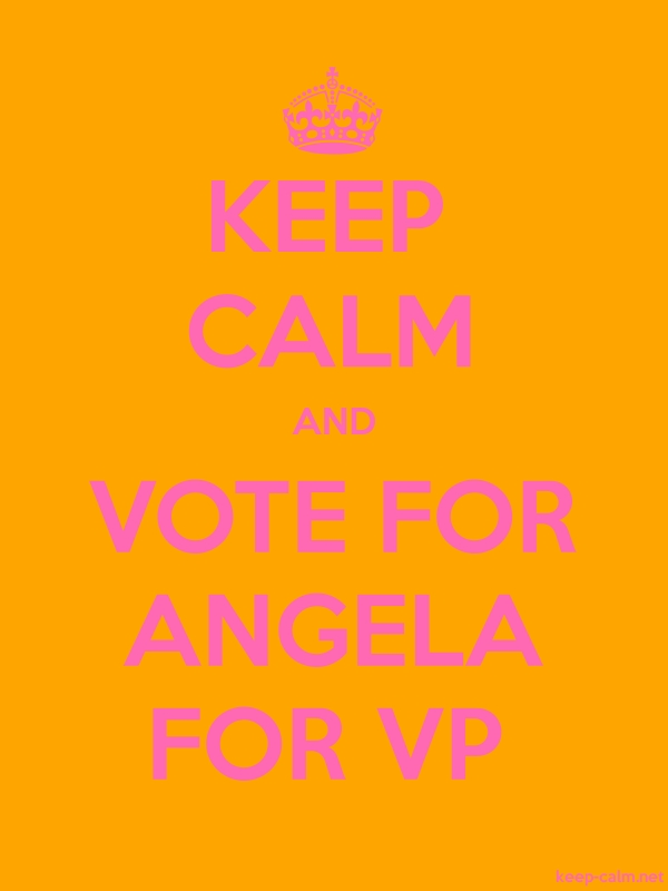 KEEP CALM AND VOTE FOR ANGELA FOR VP - pink/orange - Default (600x800)