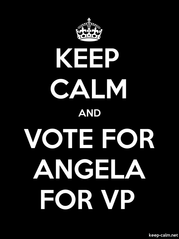 KEEP CALM AND VOTE FOR ANGELA FOR VP - white/black - Default (600x800)
