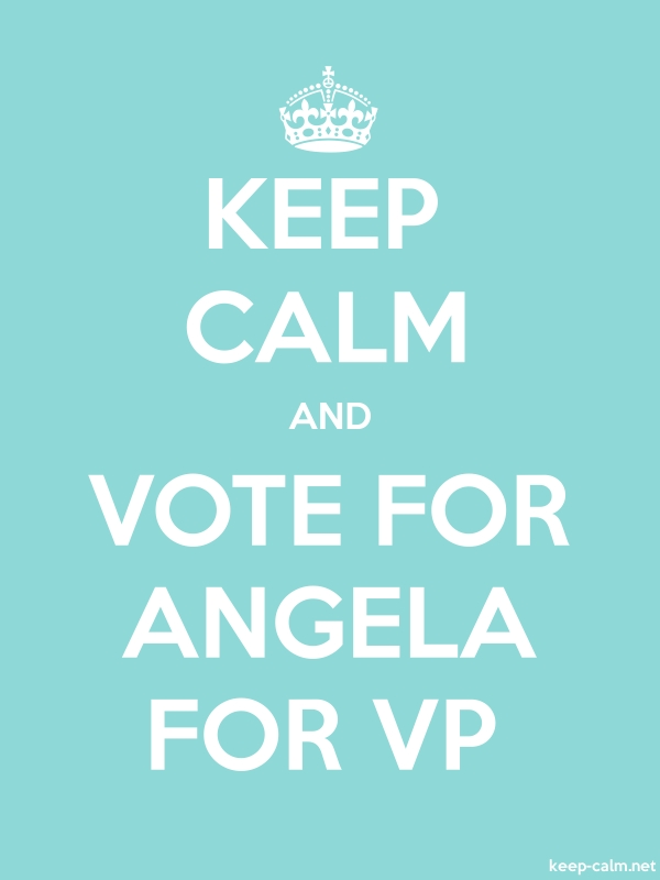 KEEP CALM AND VOTE FOR ANGELA FOR VP - white/lightblue - Default (600x800)