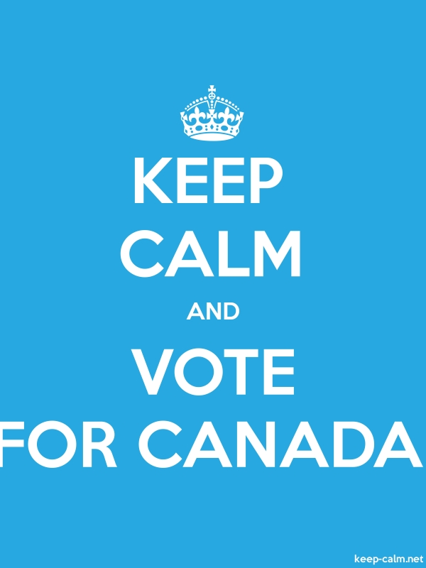 KEEP CALM AND VOTE FOR CANADA - white/blue - Default (600x800)