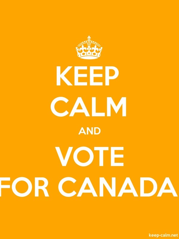 KEEP CALM AND VOTE FOR CANADA - white/orange - Default (600x800)