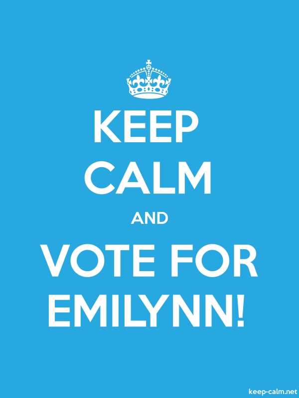 KEEP CALM AND VOTE FOR EMILYNN! - white/blue - Default (600x800)