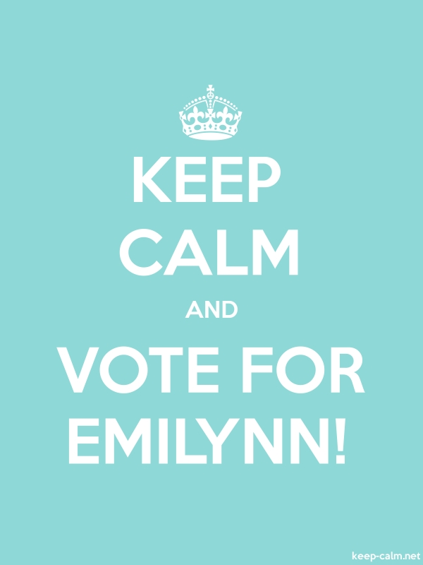 KEEP CALM AND VOTE FOR EMILYNN! - white/lightblue - Default (600x800)