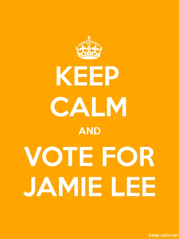 KEEP CALM AND VOTE FOR JAMIE LEE - white/orange - Default (600x800)