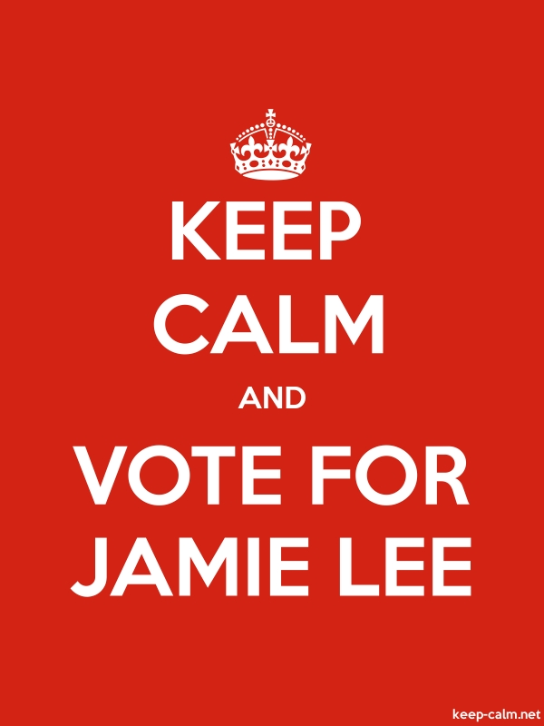 KEEP CALM AND VOTE FOR JAMIE LEE - white/red - Default (600x800)
