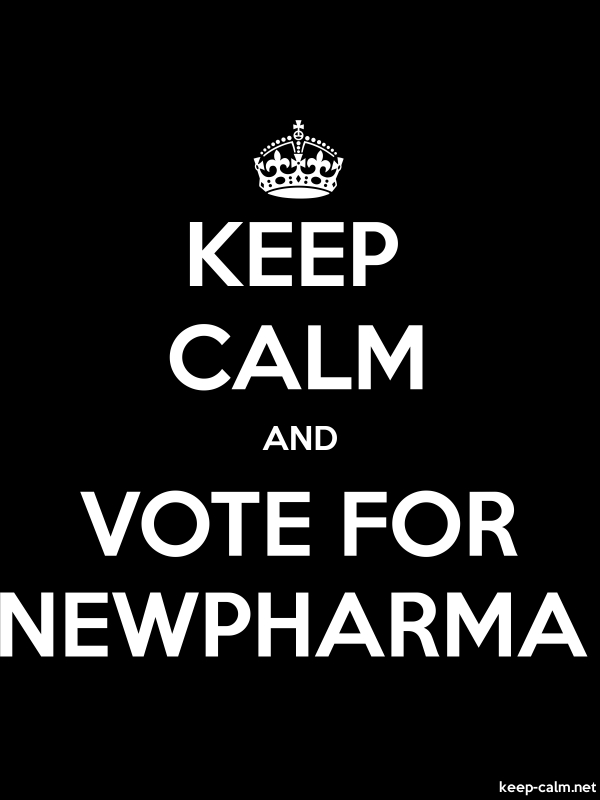 KEEP CALM AND VOTE FOR NEWPHARMA - white/black - Default (600x800)