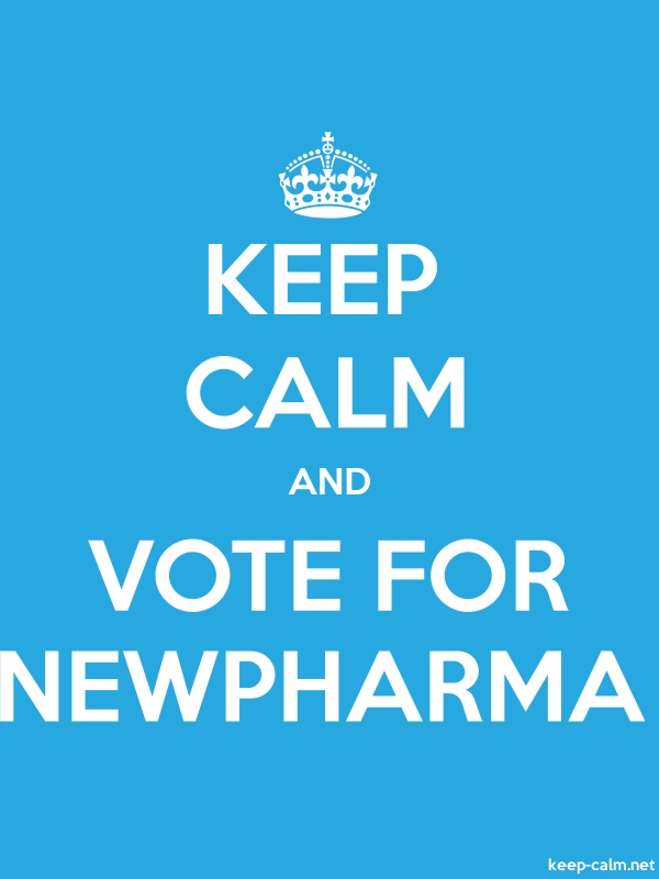 KEEP CALM AND VOTE FOR NEWPHARMA - white/blue - Default (600x800)