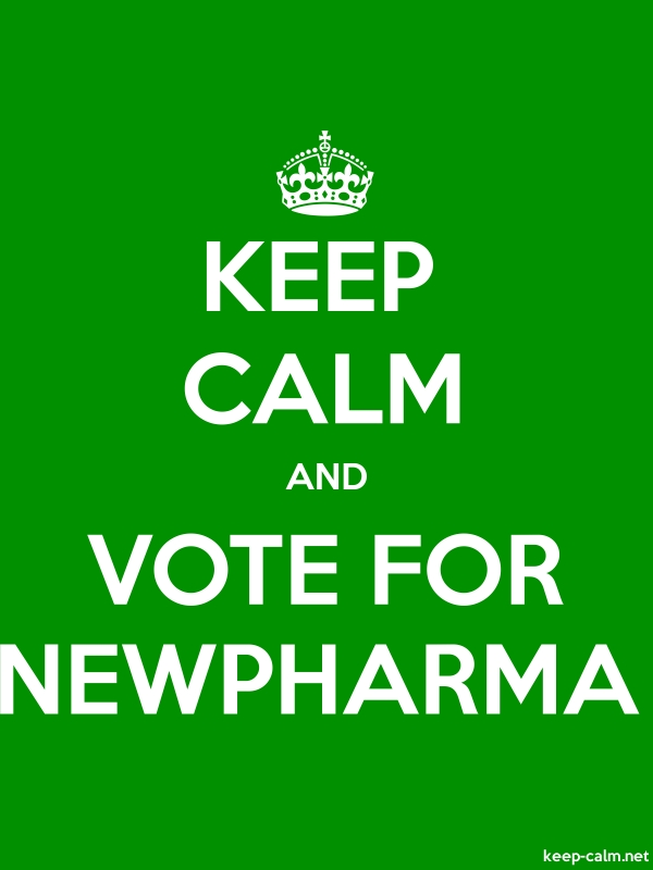 KEEP CALM AND VOTE FOR NEWPHARMA - white/green - Default (600x800)