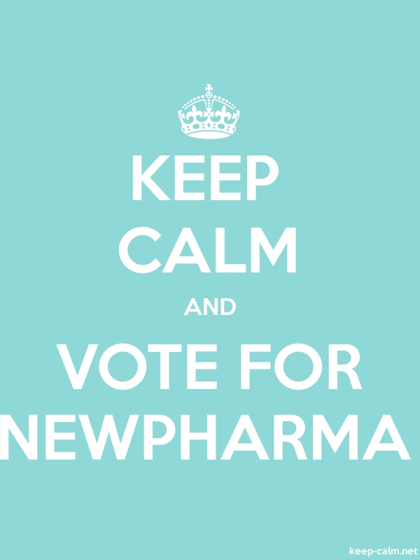 KEEP CALM AND VOTE FOR NEWPHARMA - white/lightblue - Default (600x800)