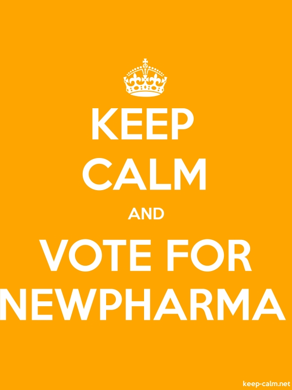 KEEP CALM AND VOTE FOR NEWPHARMA - white/orange - Default (600x800)