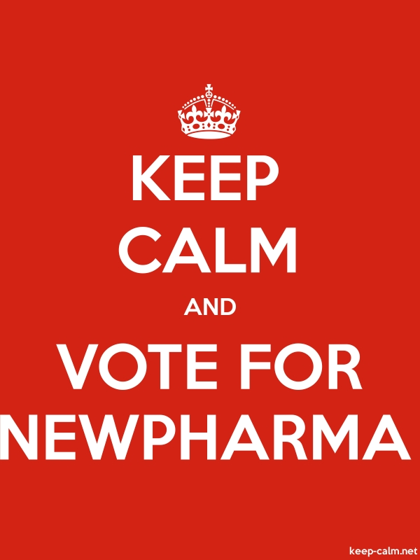 KEEP CALM AND VOTE FOR NEWPHARMA - white/red - Default (600x800)