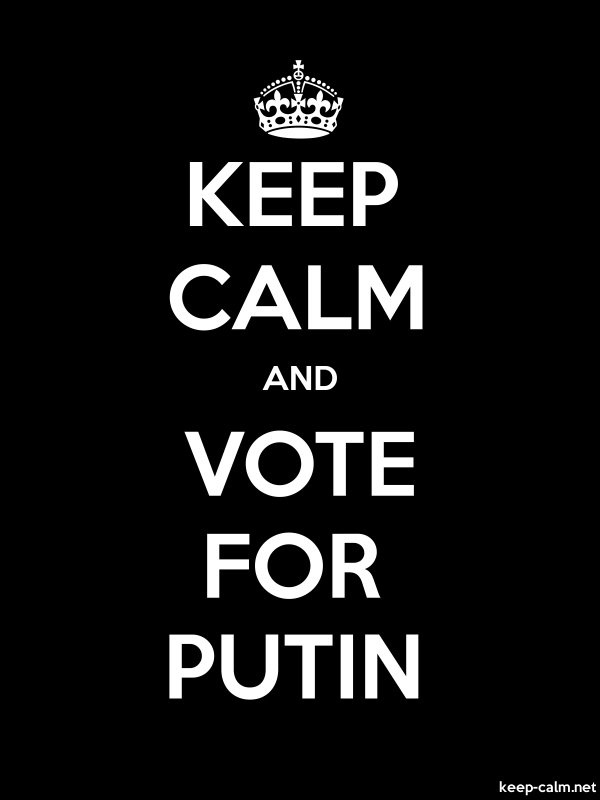 KEEP CALM AND VOTE FOR PUTIN - white/black - Default (600x800)