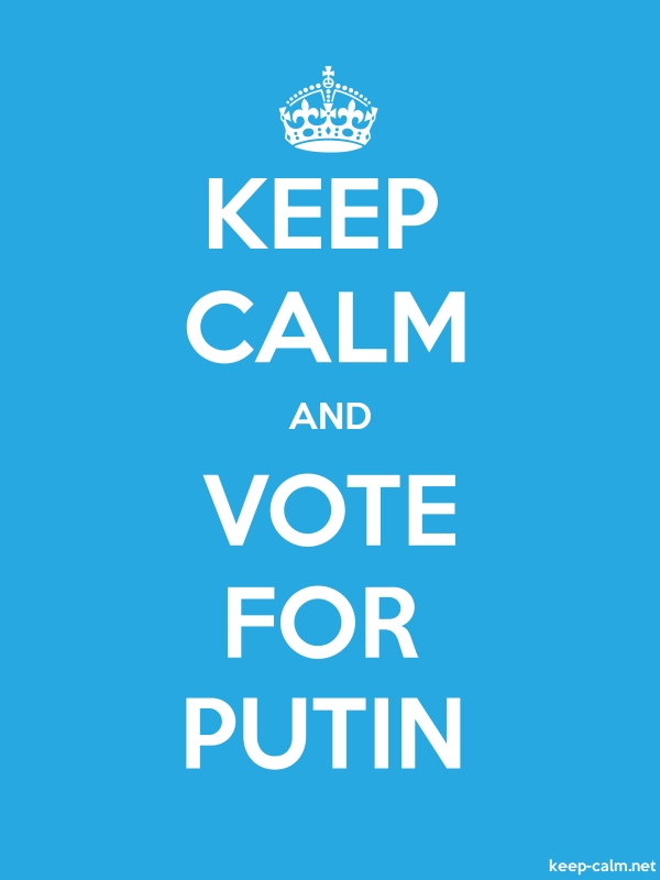 KEEP CALM AND VOTE FOR PUTIN - white/blue - Default (600x800)