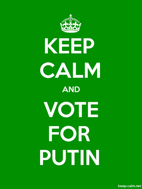 KEEP CALM AND VOTE FOR PUTIN - white/green - Default (600x800)