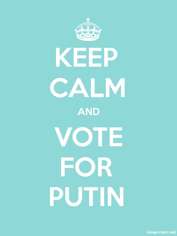 KEEP CALM AND VOTE FOR PUTIN - white/lightblue - Default (600x800)