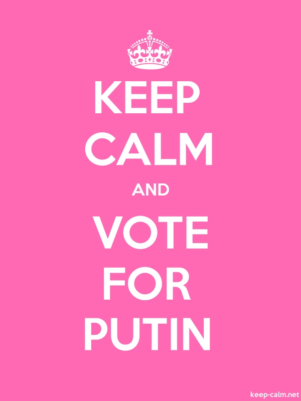 KEEP CALM AND VOTE FOR PUTIN - white/pink - Default (600x800)