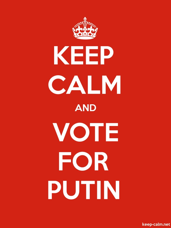 KEEP CALM AND VOTE FOR PUTIN - white/red - Default (600x800)