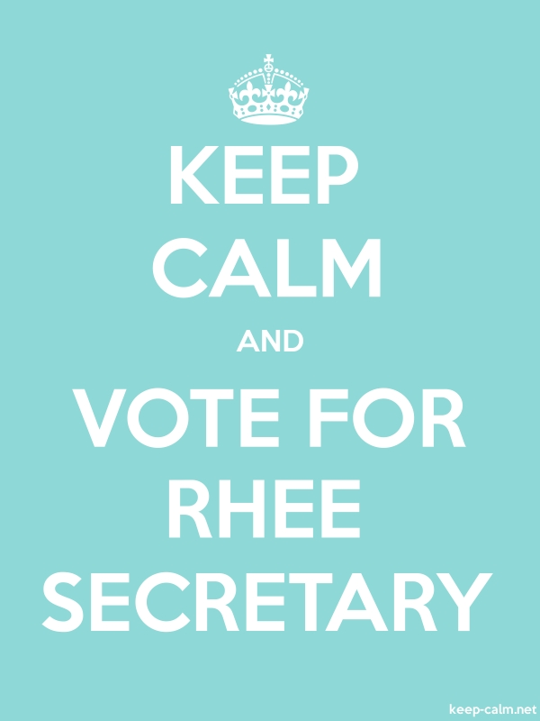 KEEP CALM AND VOTE FOR RHEE SECRETARY - white/lightblue - Default (600x800)