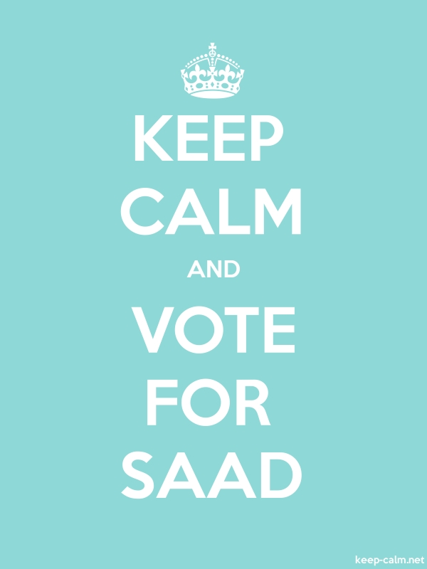 KEEP CALM AND VOTE FOR SAAD - white/lightblue - Default (600x800)