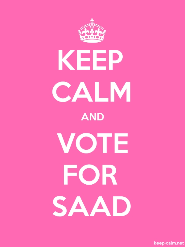 KEEP CALM AND VOTE FOR SAAD - white/pink - Default (600x800)