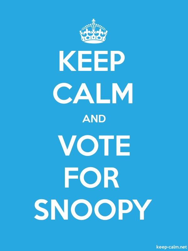 KEEP CALM AND VOTE FOR SNOOPY - white/blue - Default (600x800)