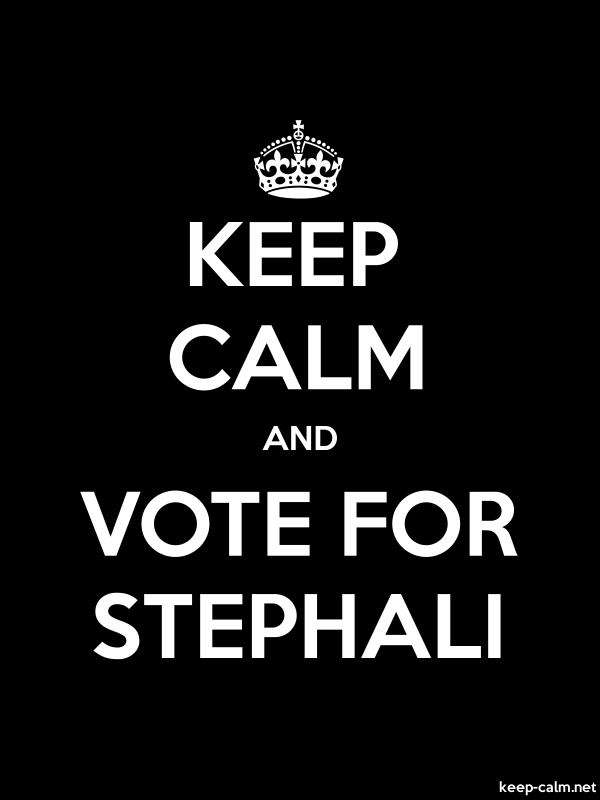 KEEP CALM AND VOTE FOR STEPHALI - white/black - Default (600x800)
