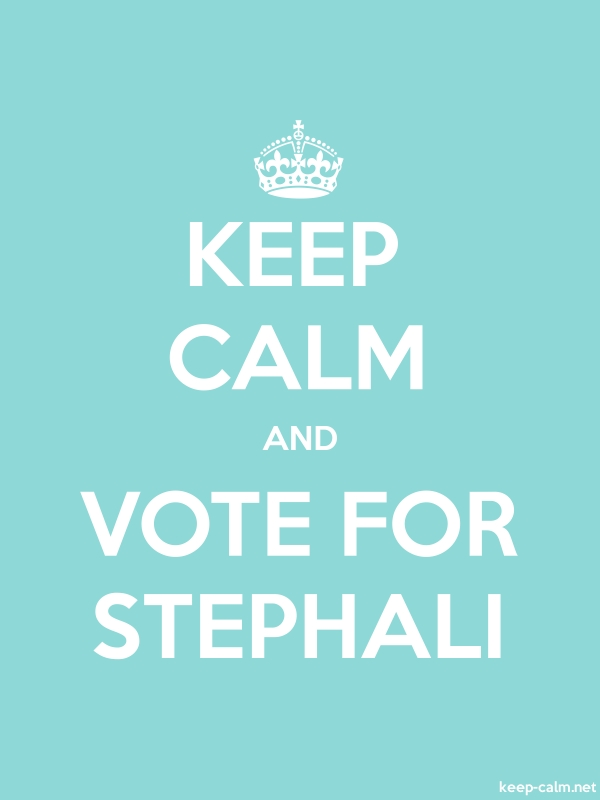 KEEP CALM AND VOTE FOR STEPHALI - white/lightblue - Default (600x800)