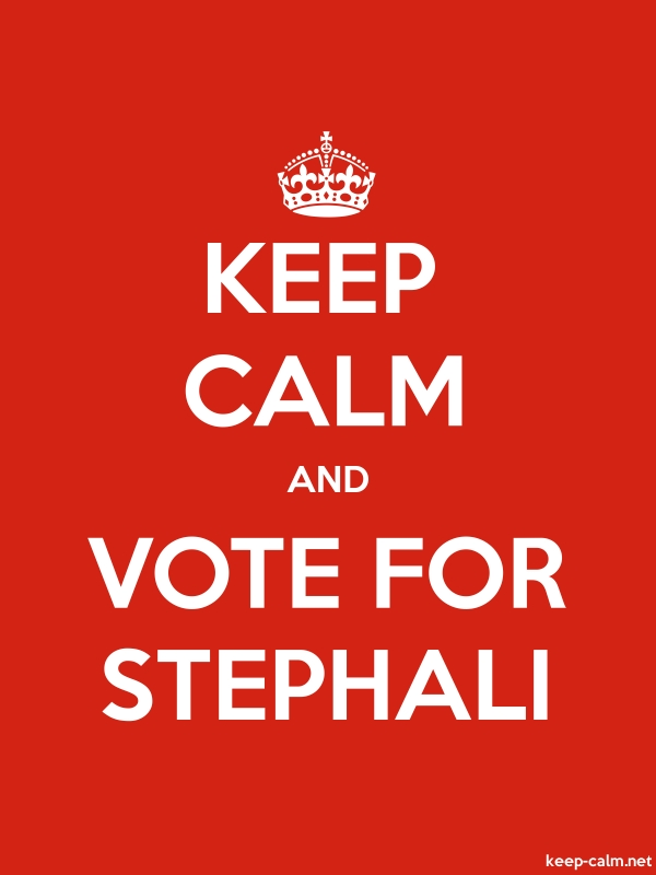 KEEP CALM AND VOTE FOR STEPHALI - white/red - Default (600x800)