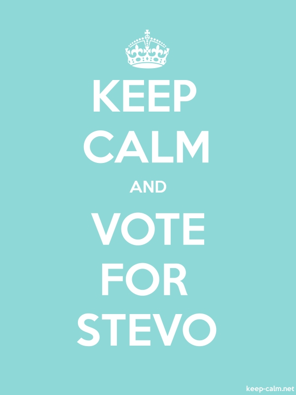 KEEP CALM AND VOTE FOR STEVO - white/lightblue - Default (600x800)