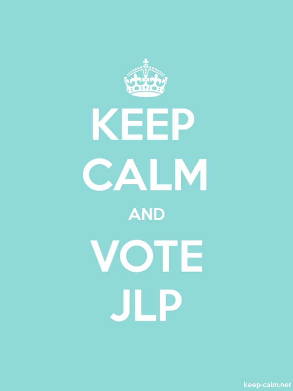 KEEP CALM AND VOTE JLP - white/lightblue - Default (600x800)