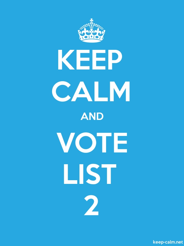 KEEP CALM AND VOTE LIST 2 - white/blue - Default (600x800)