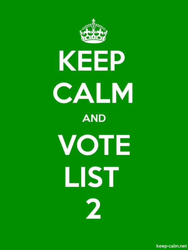 KEEP CALM AND VOTE LIST 2 - white/green - Default (600x800)