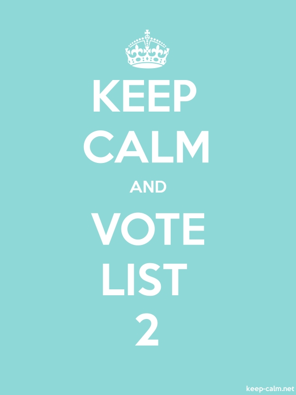 KEEP CALM AND VOTE LIST 2 - white/lightblue - Default (600x800)