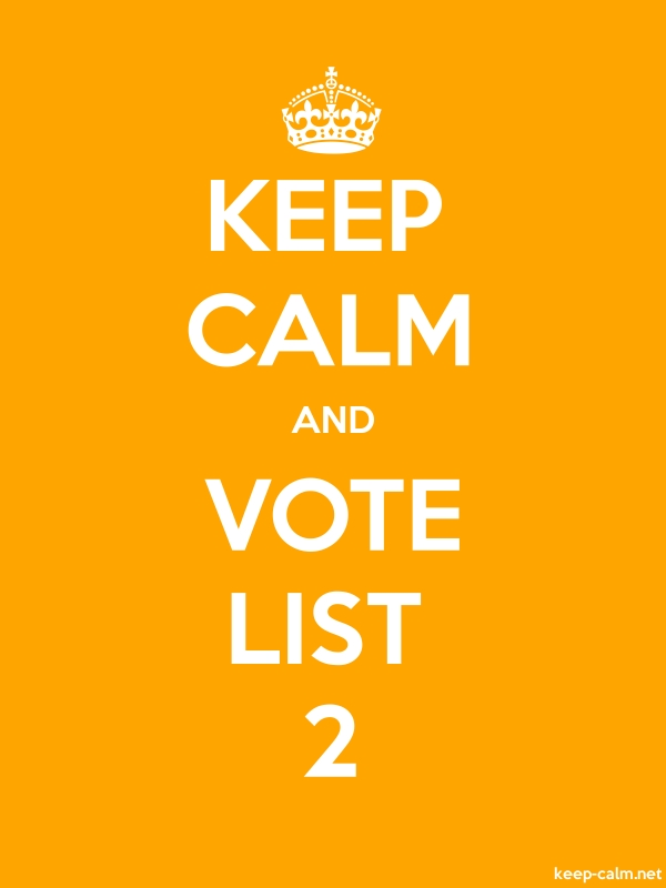 KEEP CALM AND VOTE LIST 2 - white/orange - Default (600x800)
