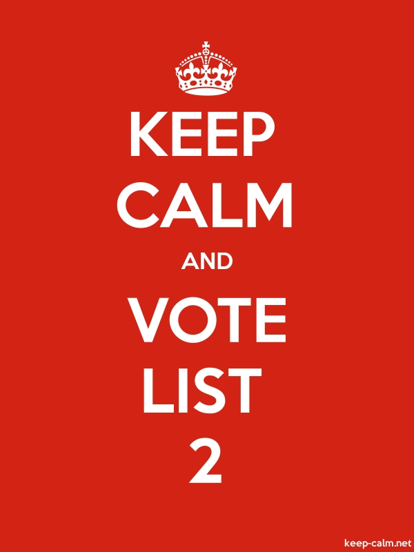KEEP CALM AND VOTE LIST 2 - white/red - Default (600x800)