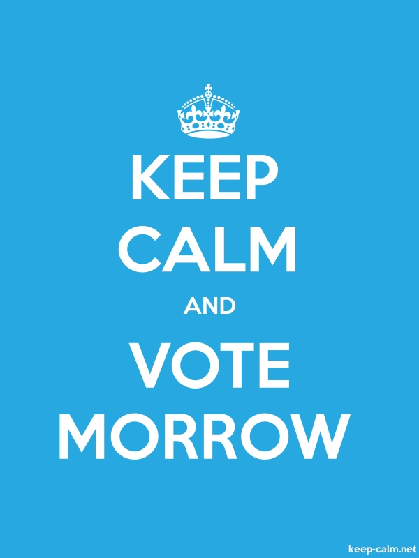 KEEP CALM AND VOTE MORROW - white/blue - Default (600x800)
